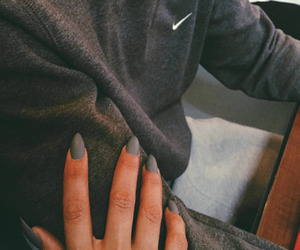 nike, nails, and couple image