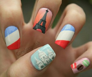 nails, paris, and france image