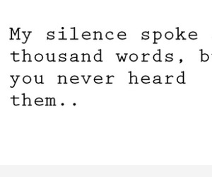 silence and love image
