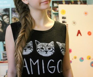cat, amigos, and hair image