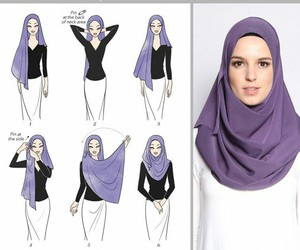 hijab and hijab tutorial image