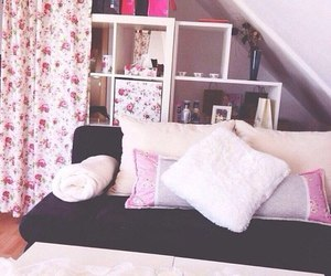 room, pink, and style image