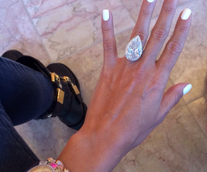 diamond, nails, and ring image