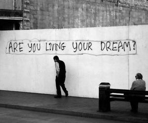 blackandwhite, dreams, and quotes image