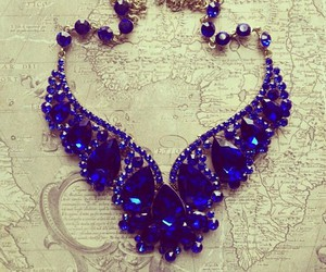 necklace, accessories, and blue image