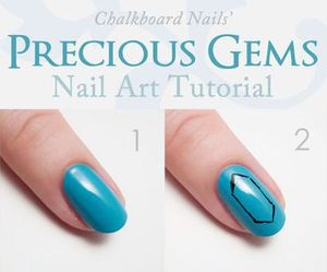 nails, gems, and tutorial image