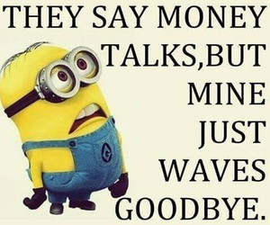 money, funny, and minions image