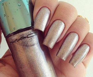 nails, glitter, and mac image