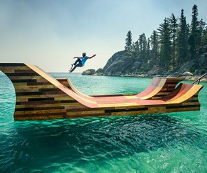 skate, water, and beach image