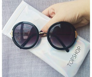 cool, glasses, and round image