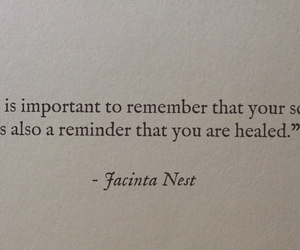 quote, reminder, and scars image