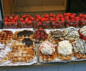 sweet, food, and stawberry image