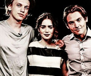 lily collins, Jamie Campbell Bower, and clary fray image
