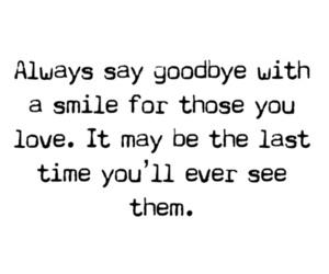love, goodbye, and smile image