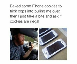 funny, iphone, and Cookies image
