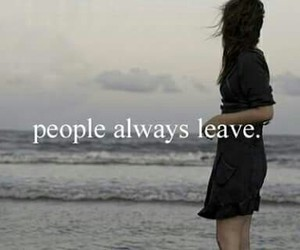 people, leave, and quote image
