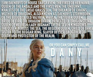 game of thrones, dany, and daenerys image