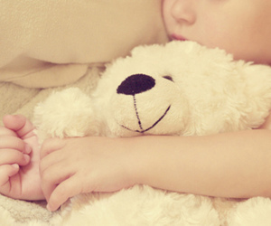 cute, baby, and teddy bear image