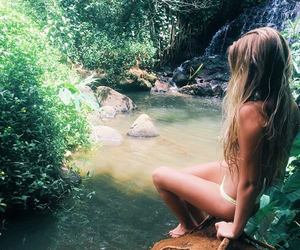 blonde, paradise, and summer image