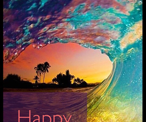 colors, happy birthday, and palmtrees image