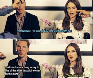 funny, benedict cumberbatch, and keira knightley image