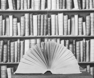 Best, black and white, and book image