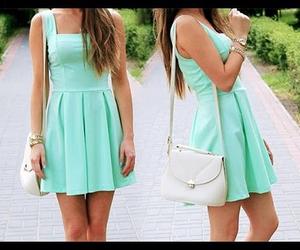 dress, fashion, and bag image