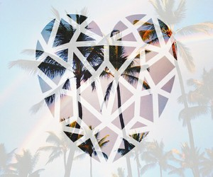 girly, heart, and palm trees image
