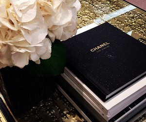 book, white, and chanel image
