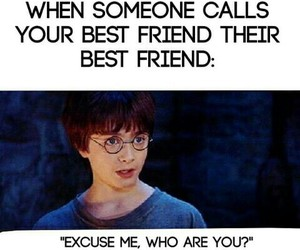 harry potter, funny, and best friends image