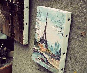 paris, art, and eiffel tower image