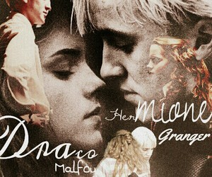 draco malfoy, emma watson, and harry potter image