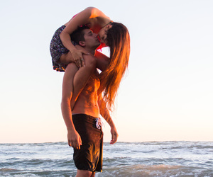 beach, boyfriend, and couple image