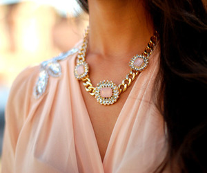 fashion, necklace, and pink image