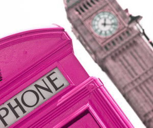 london, pink, and Big Ben image