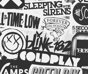 bands, black, and white image