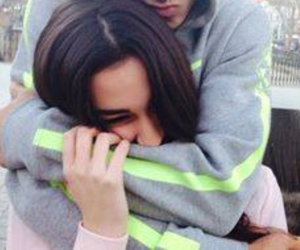 couple and hug image