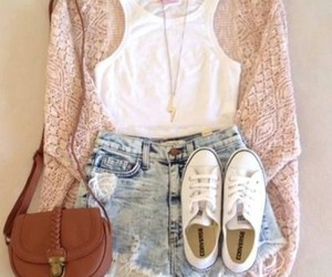 fashion, cardigan, and outfit image