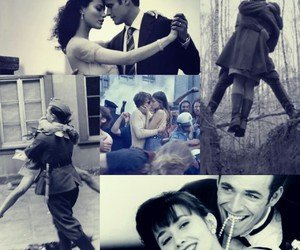 black and white, couples, and no war image