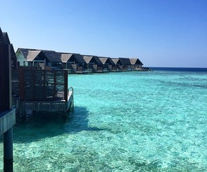 hotel, Maldives, and nature image