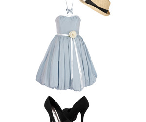 dress, hat, and necklace image