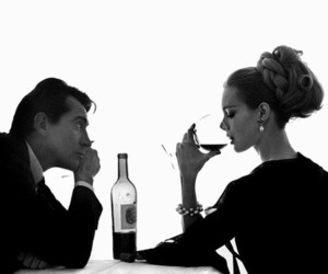 love, couple, and wine image