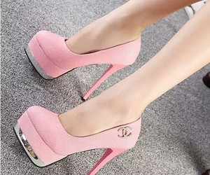 shoes, pink, and chanel image
