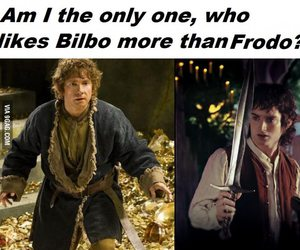 bilbo, frodo, and hobbit image