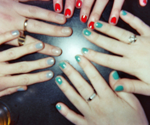 nails, hands, and friends image