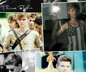 newt, maze runner, and thomas sangster image