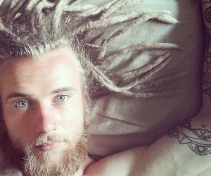 boy, dreads, and blue eyes image