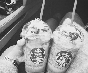 chocolate, together, and starbucks coffee image