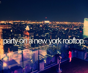 new york, party, and rooftop image