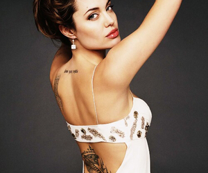 Angelina Jolie, beauty, and tattoo image